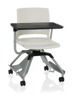 KI Learn2 Strive Mobile Chair with Cantilever Arms, Tablet Arm and Accessory Rack with Cup Holder