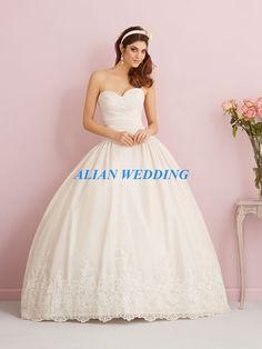 Hot Sale 2015 Wedding Dress Ball Gown Appliques Sweetheart Vestido De Noiva Satin Curto Free Shipping NW2122