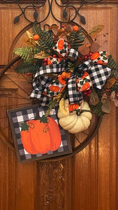 Wreaths For Front Door, Front Porch, Wagon Wheel, Fall Home Decor, Buffalo Check, Fall Wreaths, Fall Trends, Fall Crafts, Bike