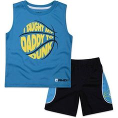 And1 Baby Toddler Boy I Taught My Daddy To Dunk 2 Pc Tee & Shorts Outfit Set, Size: 5 Years, Blue