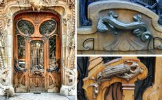 While there are many amazing works of art to see in Paris this one will be overlooked by most.  But people shouldn't because this door was made by the famous architect Jules Lavirotte and is nothing short of incredible. Seems doors have been works of art for ages!