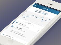 Mobile banking app concept by Denis Zabelin for z'apps