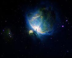 cool blue light /Orion nebula (Hubble palette) by StormLV, via Flickr