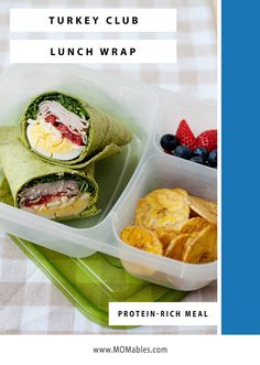 Deli turkey, hard-boiled eggs, cheese, and Homemade Ranch make this Club Turkey Wraps a hit for school and office lunches. Avocado Ranch Dressing, Homemade Ranch Dressing, Avocado Hummus, Mashed Avocado, Cooking Chicken To Shred, How To Cook Chicken, Boiled Eggs, Hard Boiled, Easy Lunch Boxes