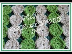 Diy 003/Como Fazer/Fácil/Ponto em Crochê Rodinha(Tapete, Almofada,Toalha/Graça Tristão - YouTube