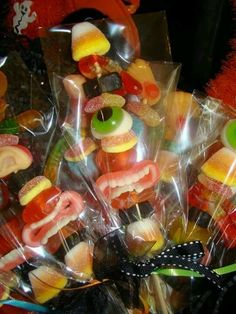 Candy kebabs for Halloween