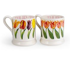 Is it spring yet? Emma Bridgewater Tulips 1/2 Pint mug gift set.