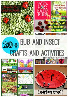 20+ Bug Crafts and Activities on Mom's Library - From ABCs to ACTs