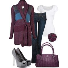 ~Plum Crazy~ by mels777 on Polyvore featuring Quiksilver, American Vintage, Hudson Jeans, Yves Saint Laurent, Coach, Blu Bijoux, tops, sweater, shoes and t shirt