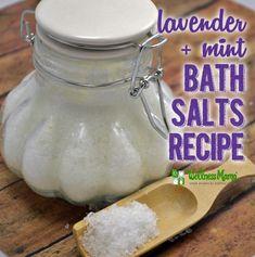 Lavender Mint Bath Salts Recipe