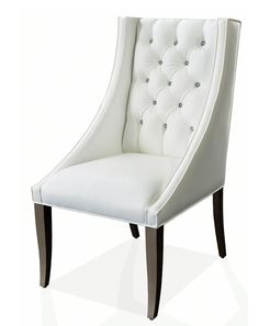 Nathan Anthony S Tufted Dining Chair Punctuated By Brilliant Swarovski Crystals Is A Study In