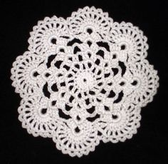 """New Handmade Crocheted """"Eight Shells"""" Coaster/Doily in Antique White on Etsy, $1.97 CAD"""