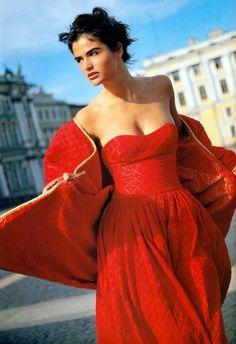 Helena Christensen for Vogue UK October 1990