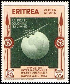 Eritrea #C4 Stamp  Plane & Globe  Airmail Stamp