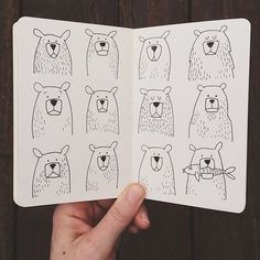 A Dozen Bears in a Sketchbook // via 1canoe2