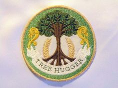 Tree Hugger Iron on Patch. $11.00, via Etsy.