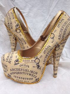 Ouija Board Heels by Miss Fiendish. £100.00, via Etsy. Cute!