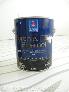 Painting concrete floors: No etching/acid. Lightly sand with sandpaper on a pole, and sweep/vacuum 4 times each. Enamel paint is self priming (one coat). Then seal (glossy or not).