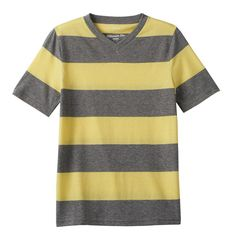 Boys 8-20 Urban Pipeline® Ultimate Striped Tee, Size: Medium, Lt Green