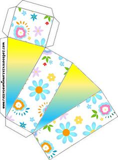Flores em Amarelo e Azul Claro - Kit Completo com molduras para convites, rótulos para guloseimas, lembrancinhas e imagens!