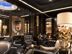 Crystal Bar Humidor Lounge at The Wellesley Hotel in London