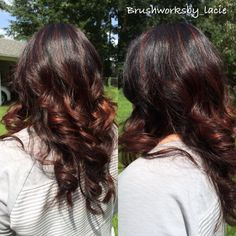 Warm copper lowlight with a dark base ! Great for the fall !