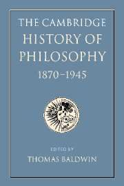 The Cambridge History of Philosophy 1870–1945 by Baldwin.   Lehman College - Stacks - B72 .C35 2012