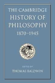 The Cambridge History of Philosophy 1870–1945 by Baldwin.   Lehman College - Stacks - B72 .C35 2012