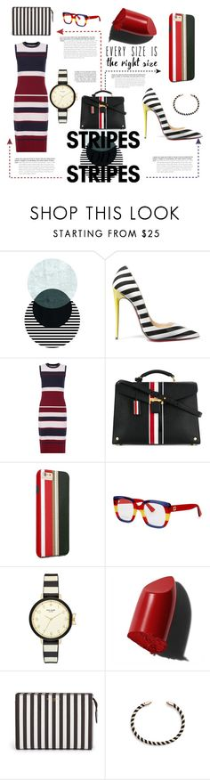 """stripes #1"" by maggiec003 ❤ liked on Polyvore featuring Christian Louboutin, Hobbs, Thom Browne, Gucci, Kate Spade, Bobbi Brown Cosmetics, Henri Bendel, Rebecca Minkoff, stripesonstripes and PatternChallenge"