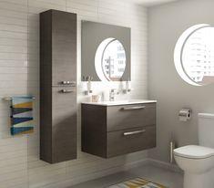 Meuble Ulysse avec plan 80cm 2 tiroirs blanc brillant réf E3258WG - IDEAL STANDARD - Sanitaire -CEDEO