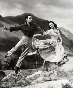 "Gene Kelly + Cyd Charisse in ""Brigadoon"" - The most amazing pair of dancers. I adore these two in the ""Broadway Melody"" segment in the movie ""Singing in the Rain."""