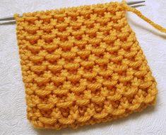 Loom Knitting, Knitting Stitches, Knitting Patterns Free, Free Knitting, Waffle Stitch, Labor, Crafty, Hobby, Arrow Keys