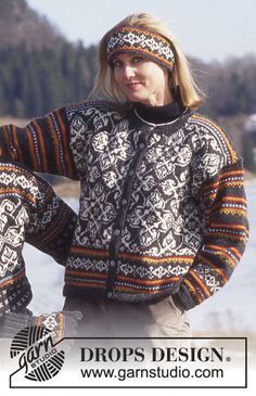Free knitting patterns and crochet patterns by DROPS Design Knitting Designs, Knitting Patterns Free, Knit Patterns, Free Knitting, Free Pattern, Nordic Pullover, Nordic Sweater, Drops Design, Crochet Design