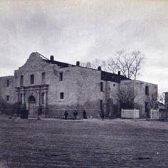 The Alamo in San Antonio, Texas, circa 1872-1877.
