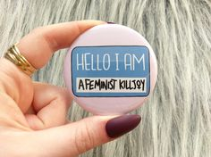 Feminist killjoy badge pin buttons feminist pin pinback