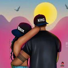 One Loyal GirlFriend is a Blessing💯⠀⠀⠀⠀⠀⠀⠀⠀⠀ . Sexy Black Art, Black Girl Art, Black Women Art, Black Is Beautiful, Black Girl Magic, Black Love Artwork, Black Art Pictures, Black Love Images, Black Couple Art