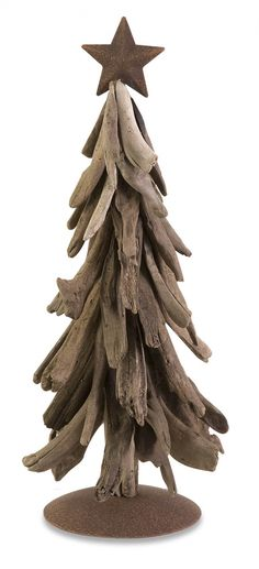 Another driftwood Christmas tree idea. More