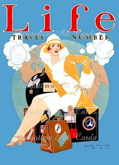 Vintage Travel Poster 1927 LIFE Magazine by ForgottenArtCards, $3.50
