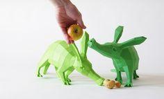 Cochon+de+terre,+Oryctérope,+DIY+papercraft+(MINI)+de+Paperwolf's+Shop+sur+DaWanda.com