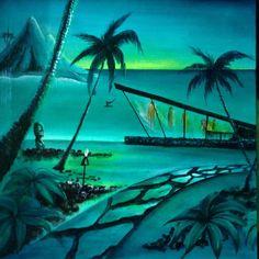 Tiki Art, Tiki Tiki, Mid Century Modern Art, Mid Century Art, Vintage Tiki, Vintage Travel, Tiki Hawaii, Tiki Bar Decor, Tiki Lounge
