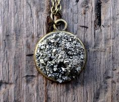 Pyrite Disc Necklace by Windsday @ Uncovet