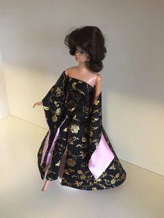 JE Hostess set by me in black/gold Brocade One Shoulder, Shoulder Dress, Black Gold, Doll, Dresses, Design, Fashion, Vestidos, Moda