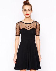 Polka Dot Lace Swing Dress