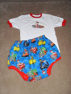 ABDL-ADULT-BABY-PAW-PATROL-CRINKLY-Diaper-Cover-Shirt-Set-Made-by-LOLA