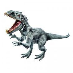 A mega interactive dinosaur figure based on the new hybrid dinosaur in the latest installment of the Jurassic Park films, Jurassic World.