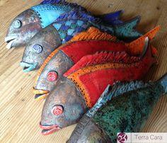 Ceramic Raku Fish Garden Art Garden Decor by CeramicStudio