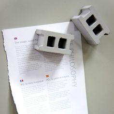 Cinder Block Magnets, http://shop.coolmaterial.com/products/cinder-block-magnets