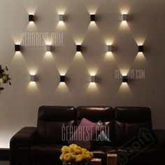1W LED Wall Sconce Light Lamp Creative Background Lighting-7.06 and Free Shipping | GearBest.com Mobile
