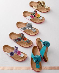 Shop Garnet Hill for delightful designs in clothing, bedding and home decor. Garnet Hill Kids, a spirited collection of girls' clothing and kids' bedding. Toddler Sandals, Kids Sandals, Shoes Sandals, Low Heel Boots, Shoes World, Feet Soles, Leather Flowers, Leather Ballet Flats, Womens Slippers