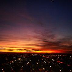 Pôr do sol na Torre de TV